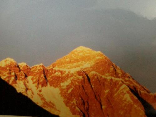 エベレストの夕日